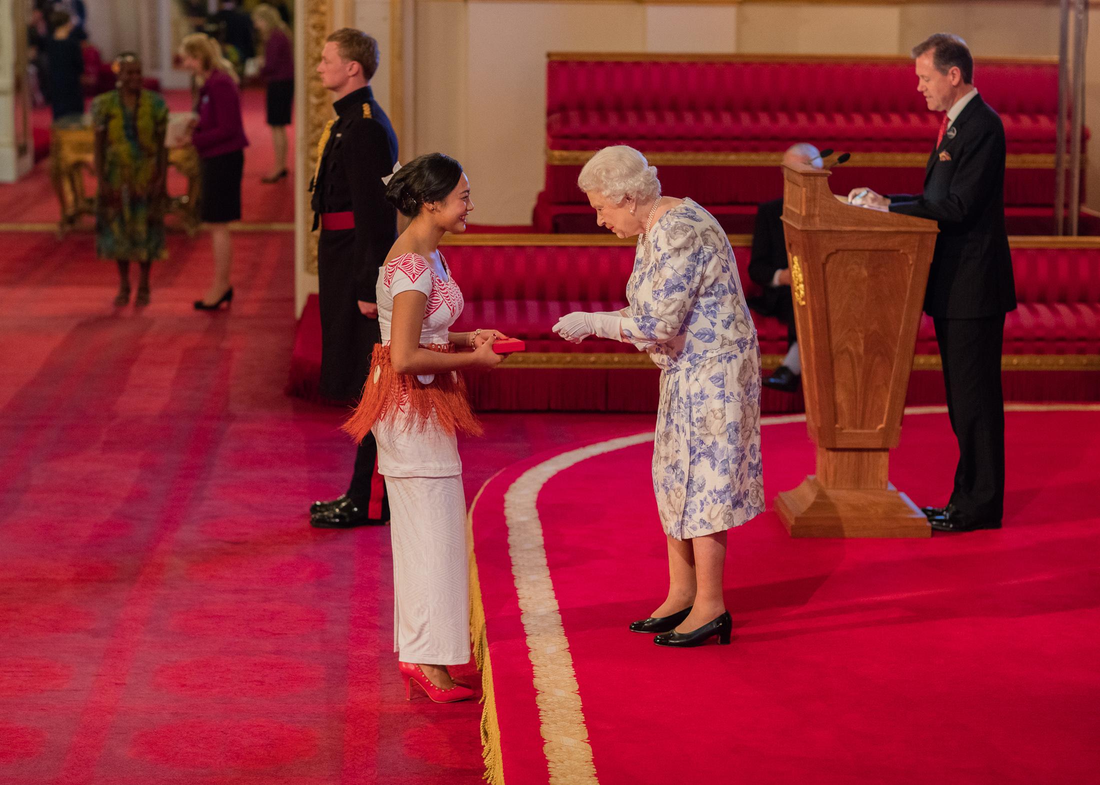 Aiona Prescott 2016 Queen's Young Leader Tonga