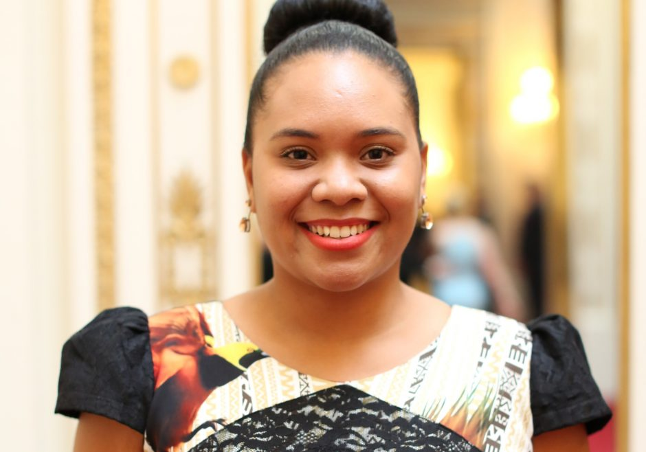 Johnetta Lili 2017 Queen's Young Leader from Papua New Guinea