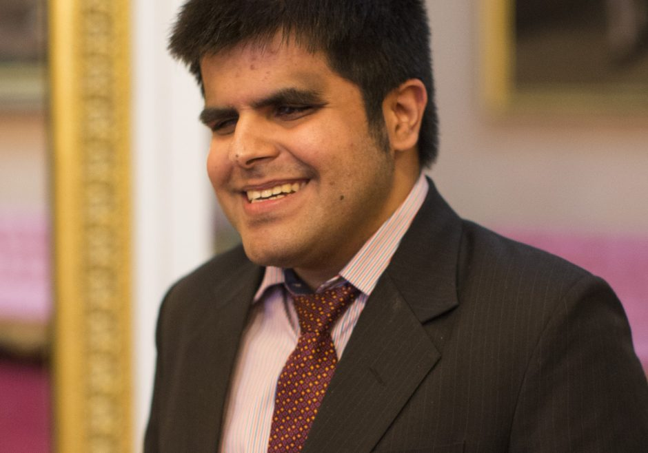 Kartik Sawhney 2016 Queen's Young Leader from India