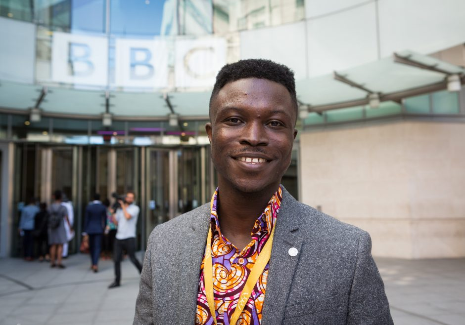 2018 Queens Young Leaders Award Winner Shadrack Frimpong from Ghana