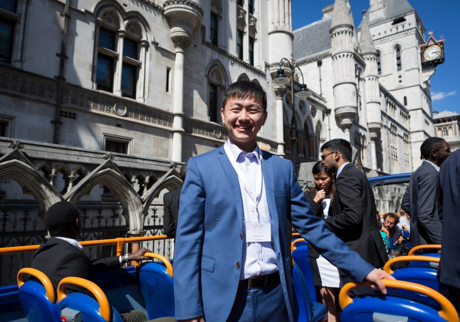 2018 Queens Young Leaders Award Winner Tian Sern from Singapore
