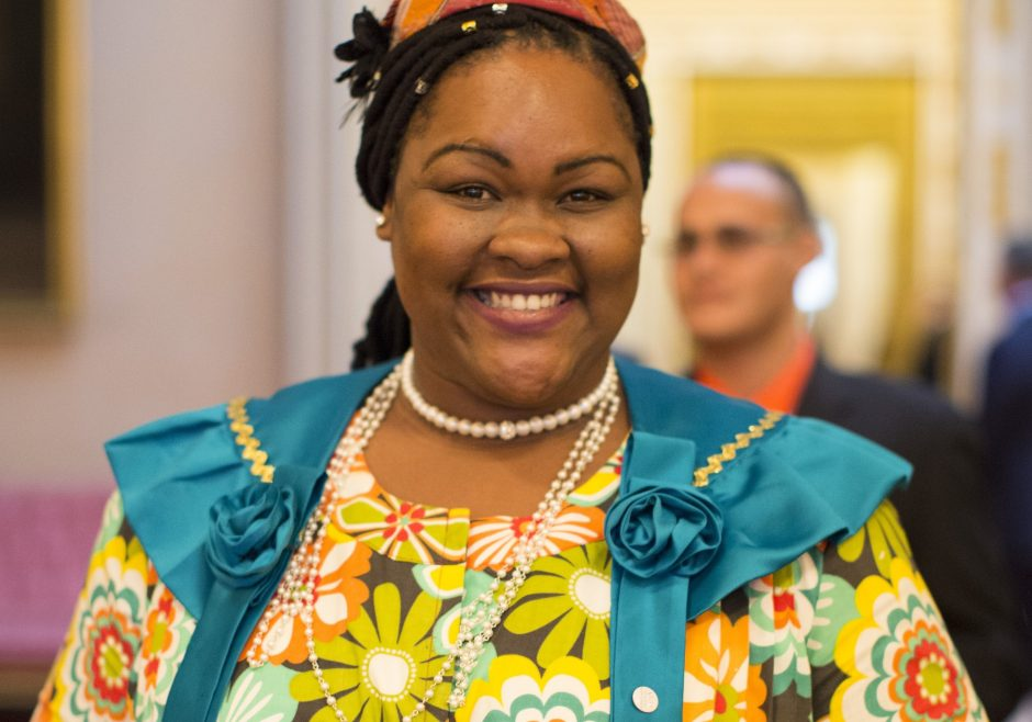 Tina Alfred 2016 Queen's Young Leader from Dominica