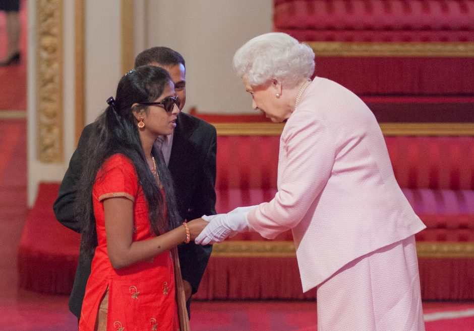 Ashwini Angadi 2015 Queen's Young Leader from India