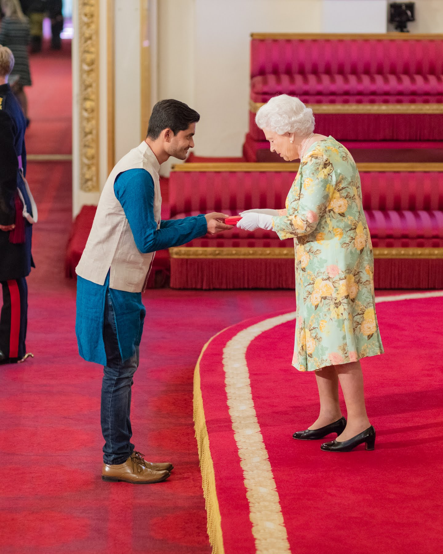 Aditya Kulkarni with The Queen