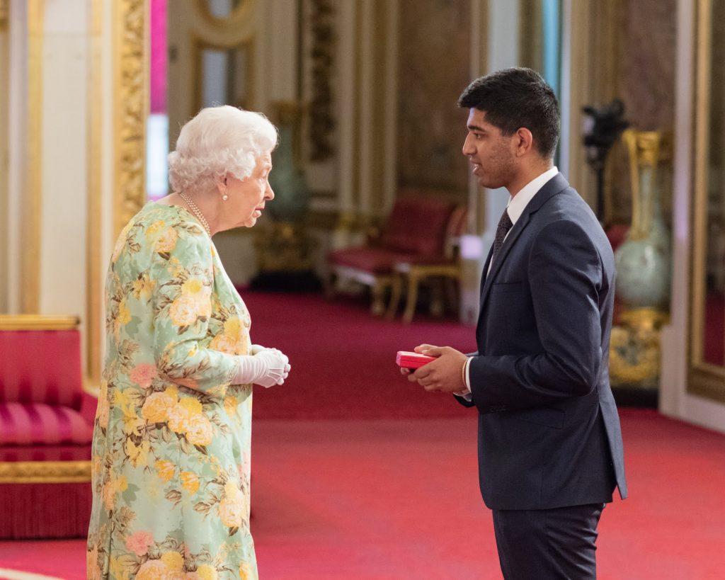 Aditya Mohan with The Queen