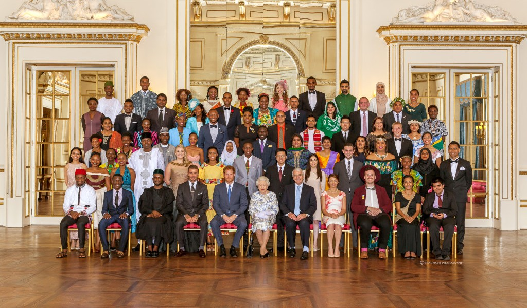 The 2016 Queen's Young Leaders receive their awards from Her Majesty