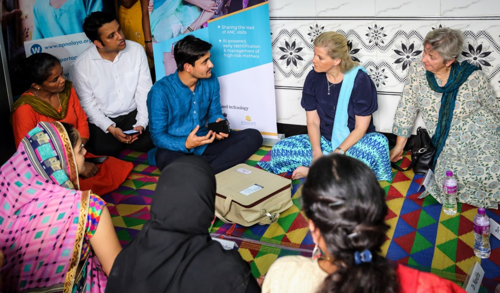 HRH The Countess-of Wessex visits Queen's Young Leader Aditya Kulkarni in India