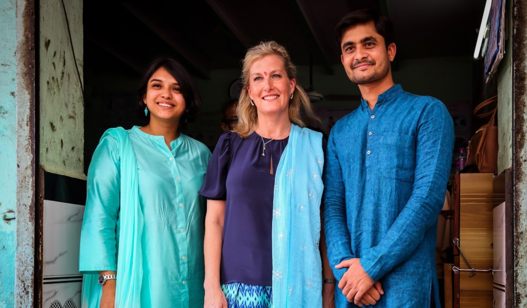 HRH The Countess-of Wessex visits Queen's Young Leaders in India