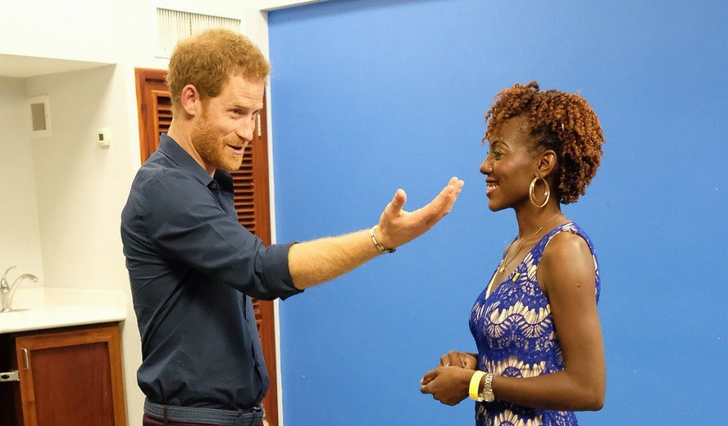 Prince Harry meets the first Queen's Young Leader of 2017, Jamilla Sealy